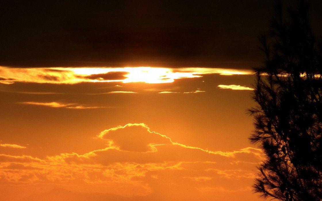 sunset landscapes wallpaper