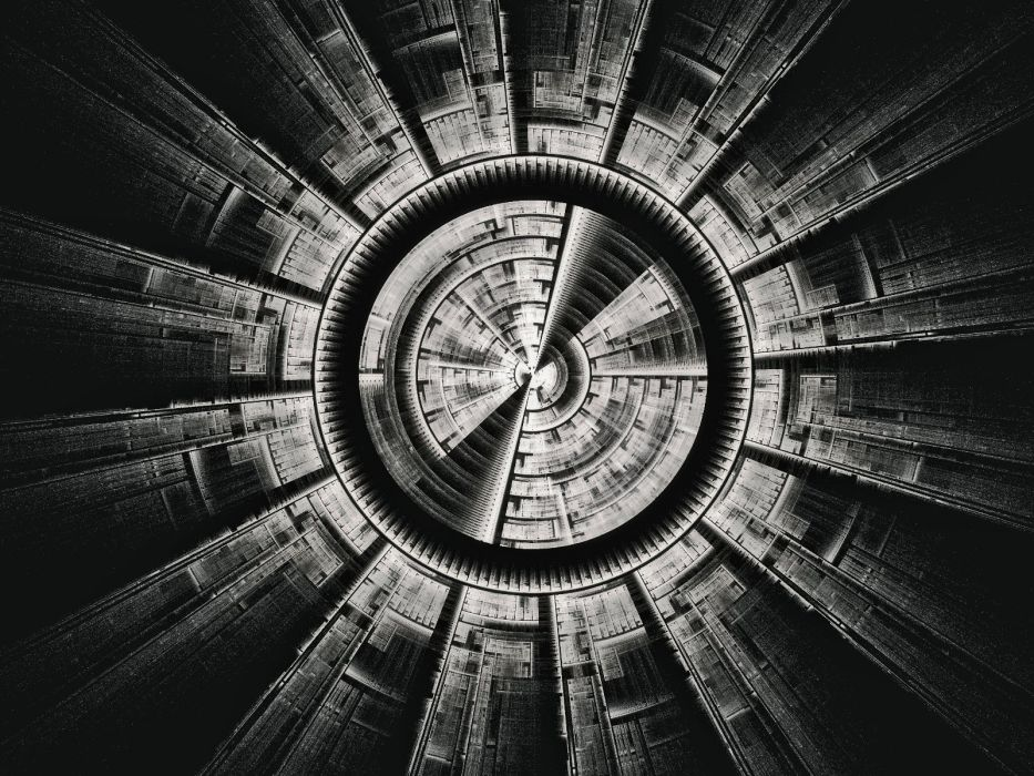 circles spiral grayscale wallpaper