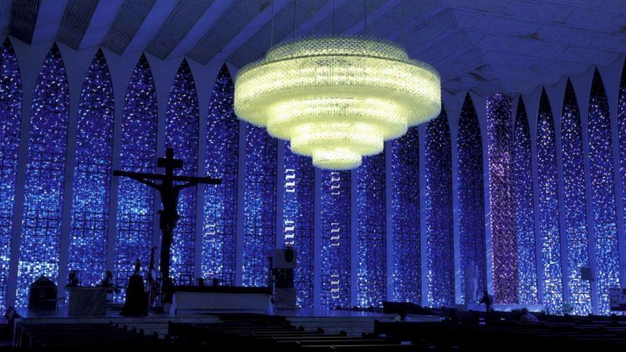 blue Brazil churches wallpaper