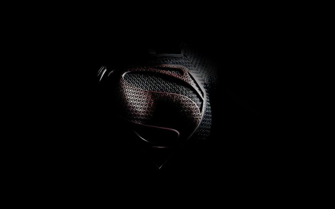 black minimalistic movies Superman Man of Steel (movie) wallpaper