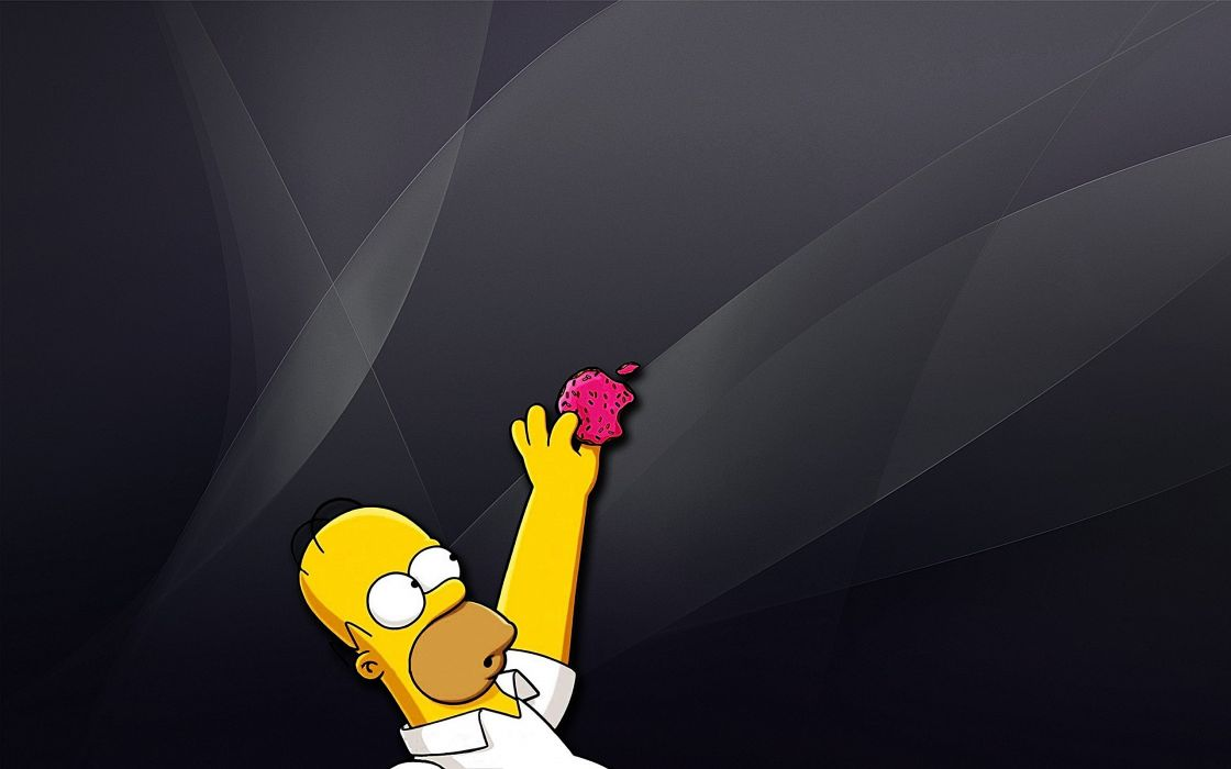 Apple Inc_ Homer Simpson The Simpsons wallpaper