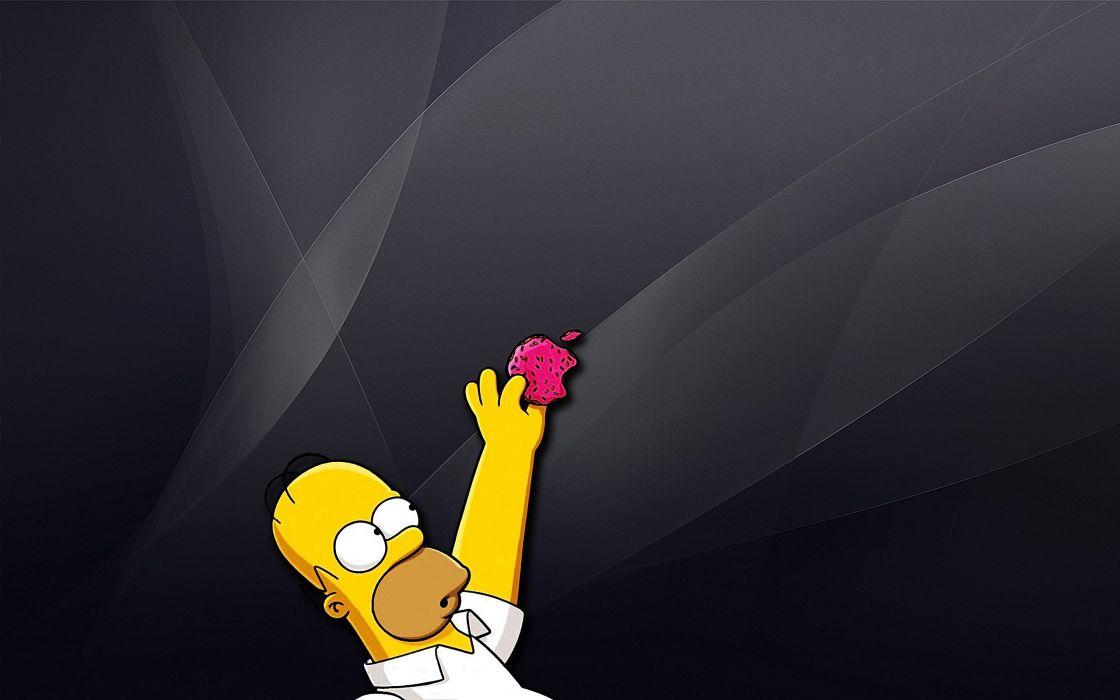 Apple Inc_ Homer Simpson The Simpsons wallpaper