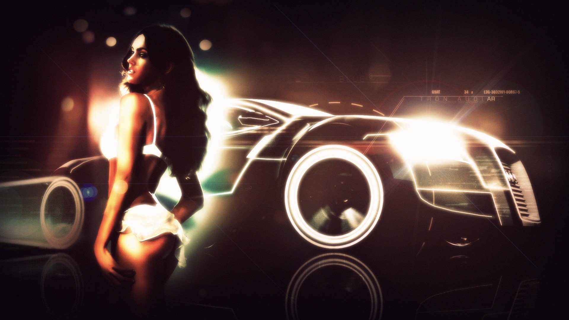 Megan Fox Tron Audi R8 Gt Spyder Girls With Cars Wallpaper