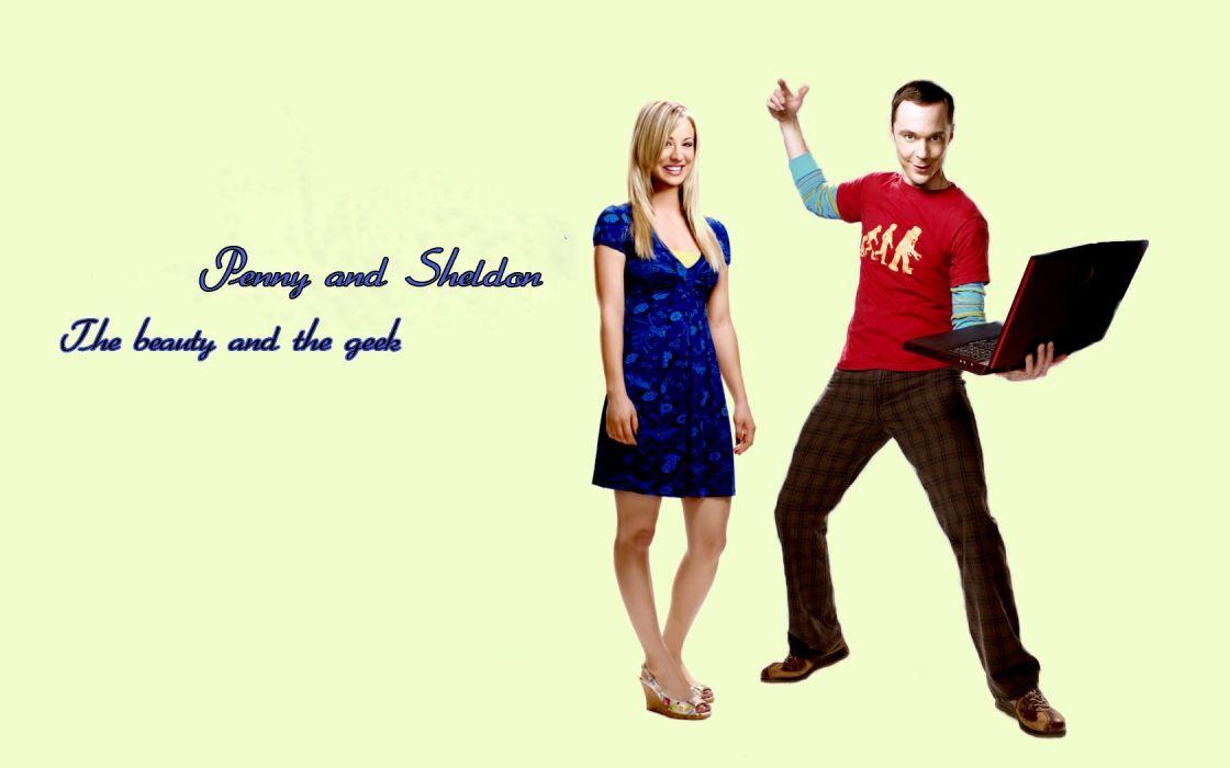The Big Bang Theory (TV) Kaley Cuoco Jim Parsons Sheldon Cooper wallpaper