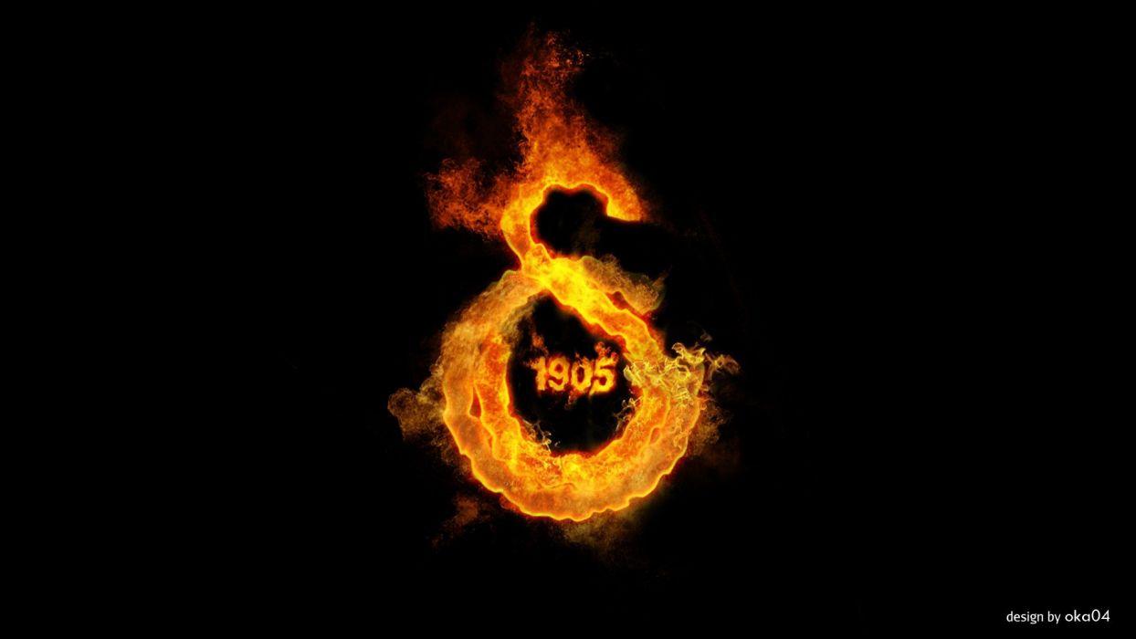 flames fire Turkey Galatasaray SK logos wallpaper