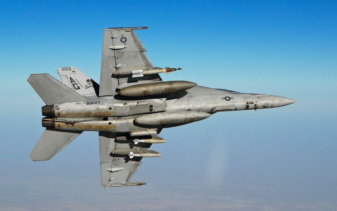 aircraft vehicles F-18 Hornet wallpaper