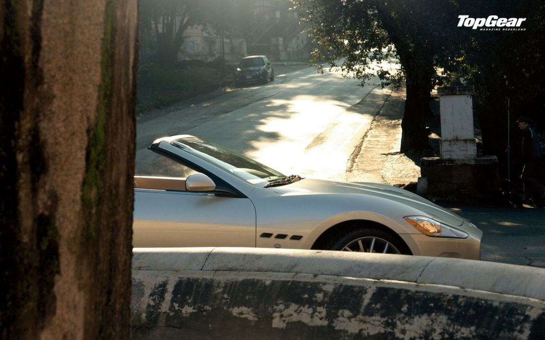 cars Top Gear vehicles convertible Maserati GranCabrio wallpaper