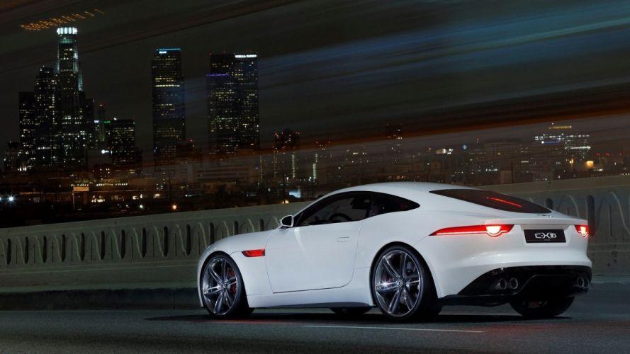 Jaguar C-X16 Concept night sky wallpaper