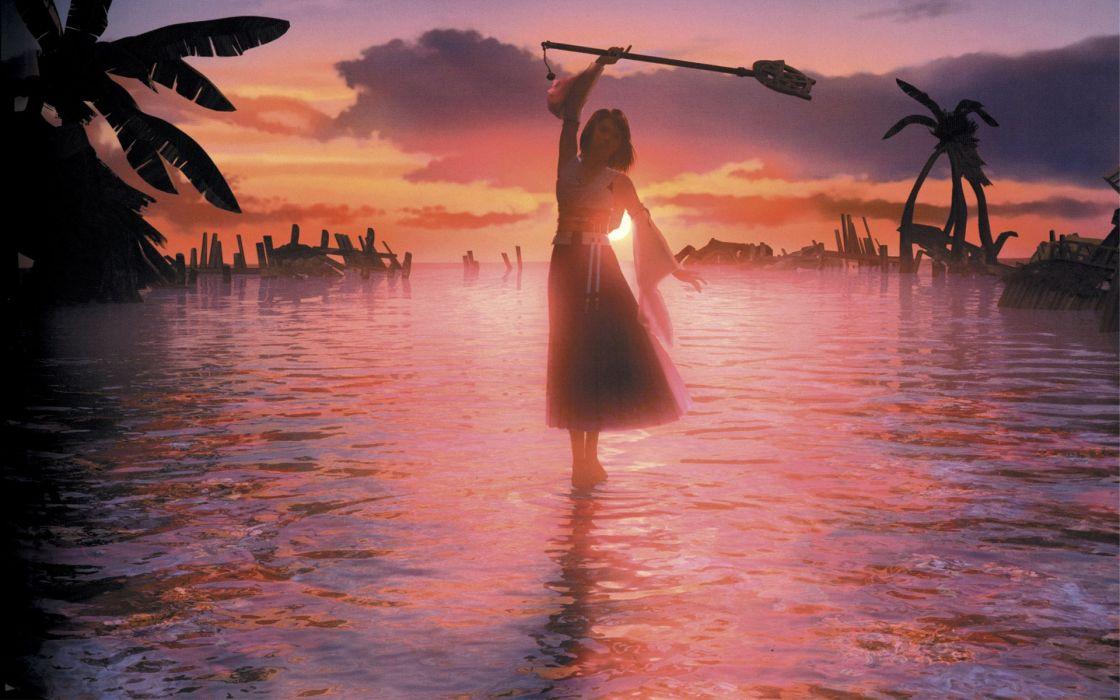Final Fantasy video games Yuna Final Fantasy X wallpaper