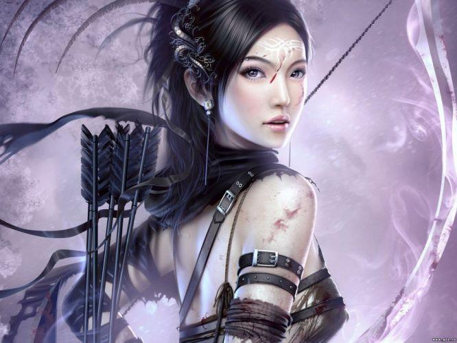 blood archers digital art Mario Wibisono arrows bow (weapon) wallpaper