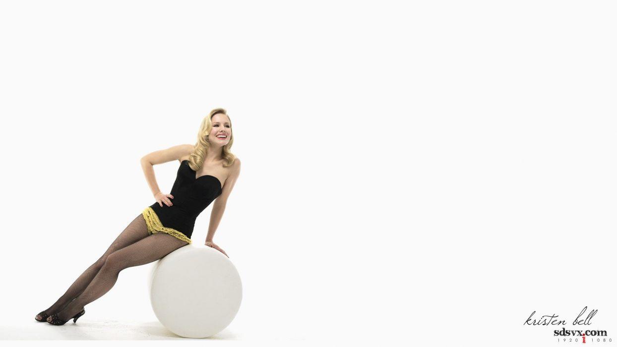 blondes women Kristen Bell actress models celebrity wallpaper