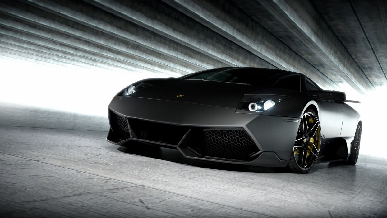 cars Lamborghini vehicles black cars wallpaper