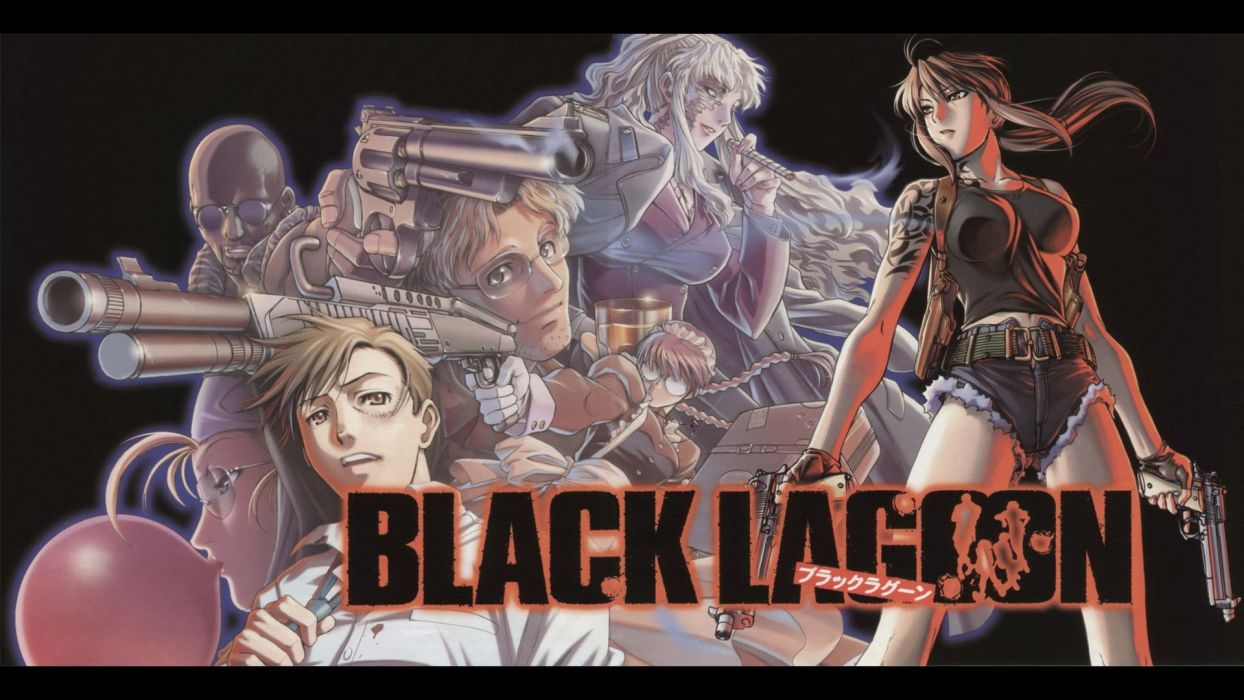 Black Lagoon Revy Balalaika revolt Dutch Roberta Eda wallpaper