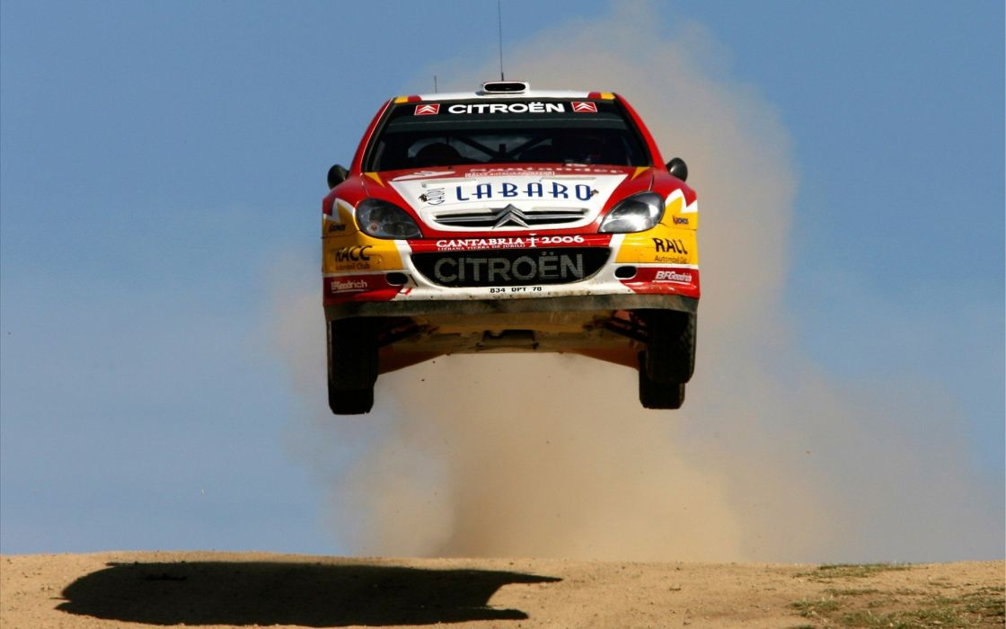 cars jumping rally cars CitroAIA wallpaper