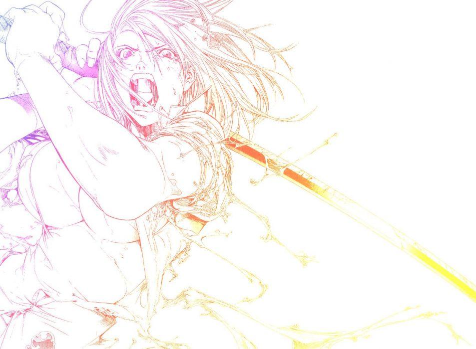 Tenjou Tenge rage Natsume Aya open mouth wallpaper