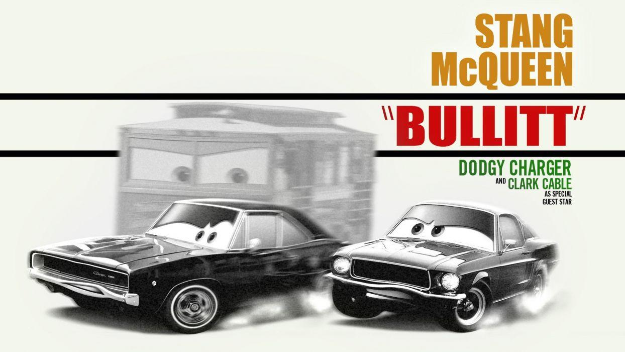cars bullitt widescreen wallpaper