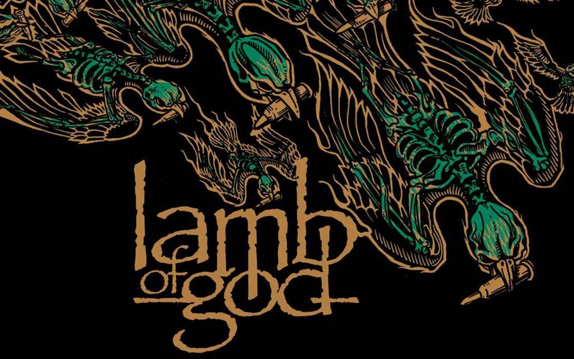 LAMB OF GOD groove metal heavy poster wallpaper