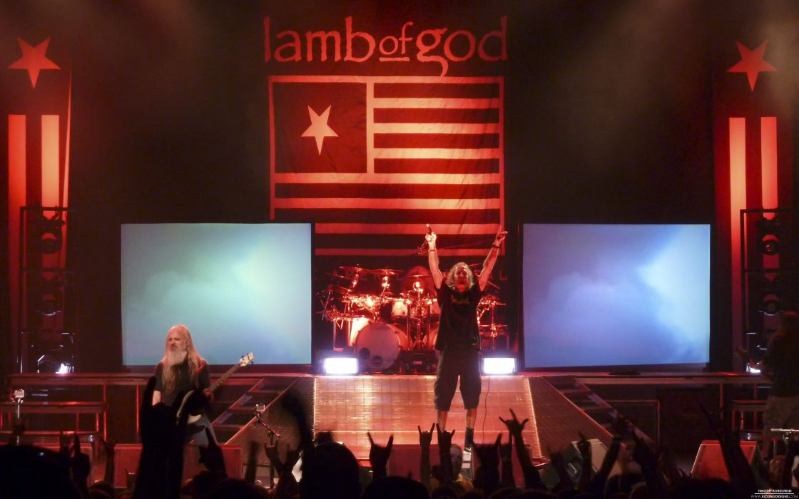LAMB OF GOD groove metal heavy concert crowd    f wallpaper