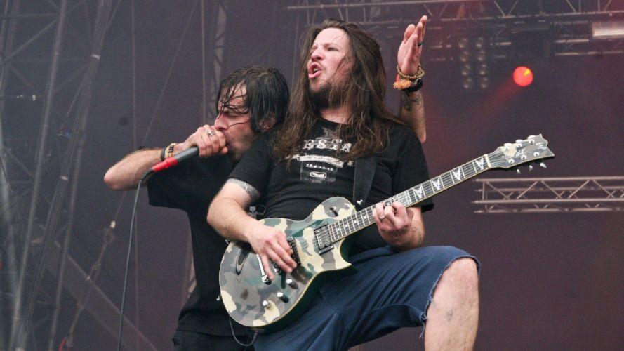LAMB OF GOD groove metal heavy concert guitar singer microphone d wallpaper