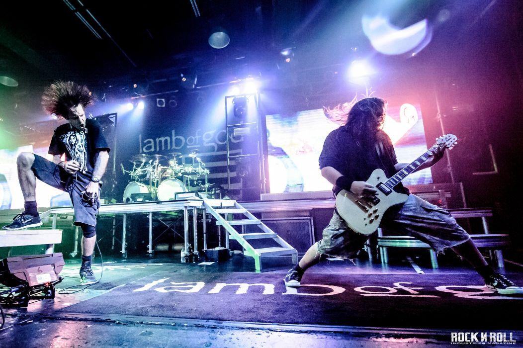LAMB OF GOD groove metal heavy concert guitar singer microphone f wallpaper