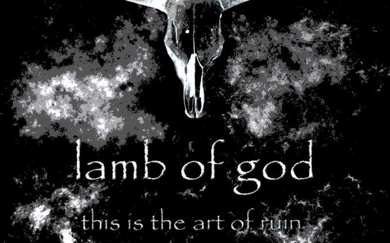 LAMB OF GOD groove metal heavy dark skull poster f wallpaper