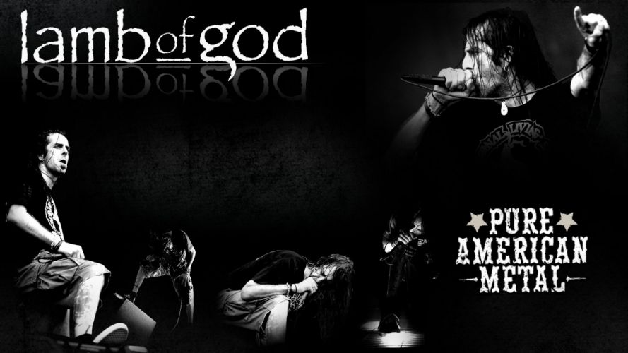 LAMB OF GOD groove metal heavy poster concert microphone f wallpaper