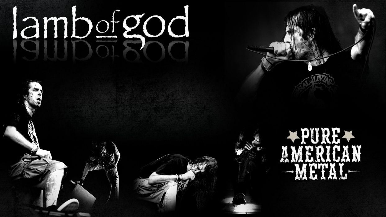 LAMB OF GOD groove metal heavy poster concert microphone    f wallpaper