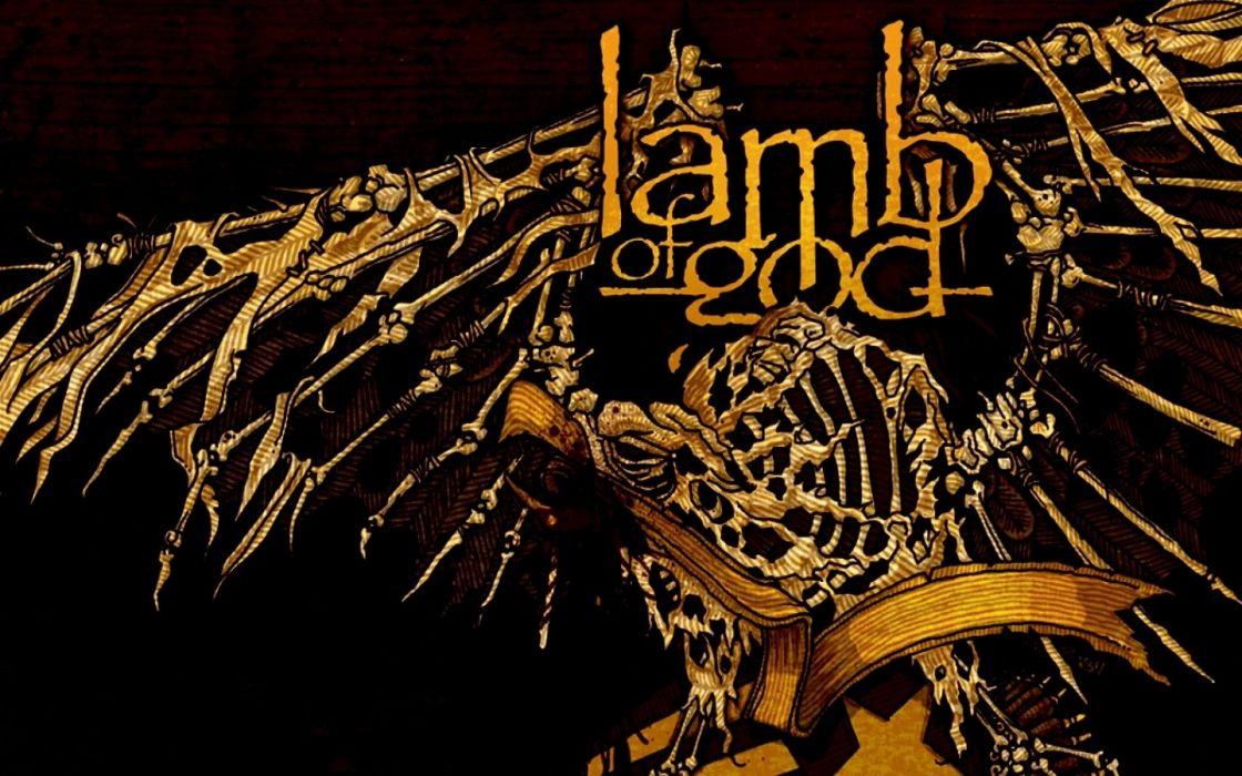 LAMB OF GOD groove metal heavy poster daek         r wallpaper