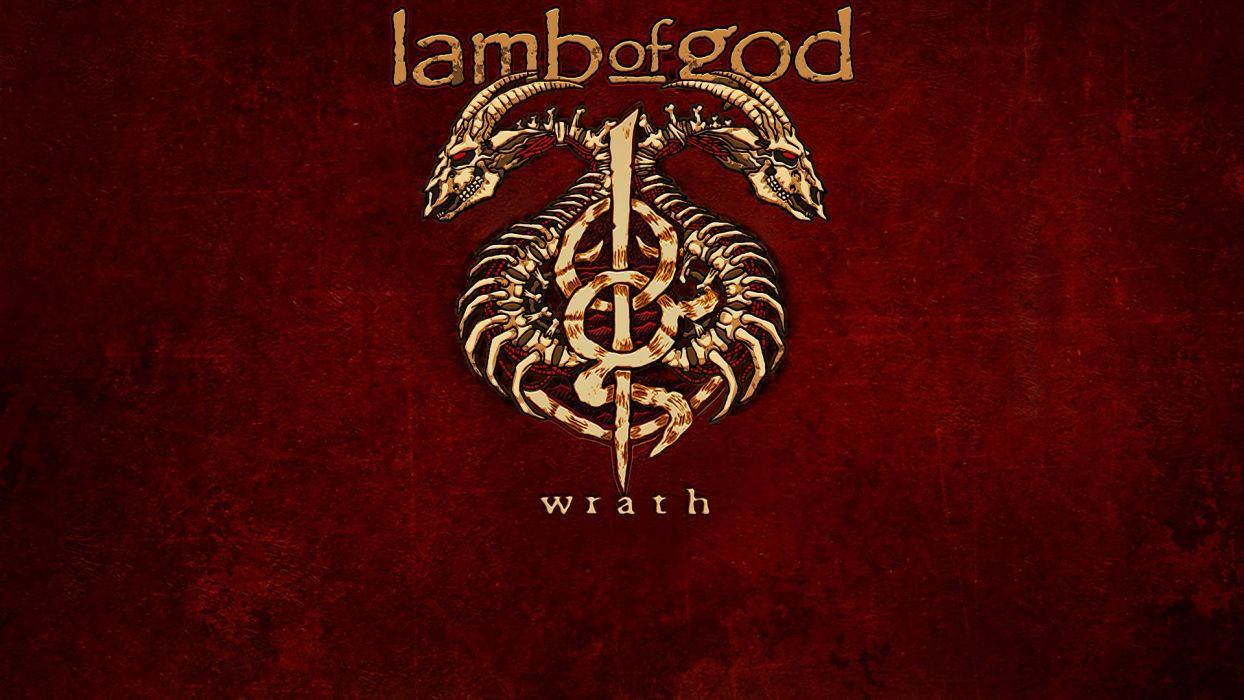 LAMB OF GOD groove metal heavy poster daek skull   f wallpaper
