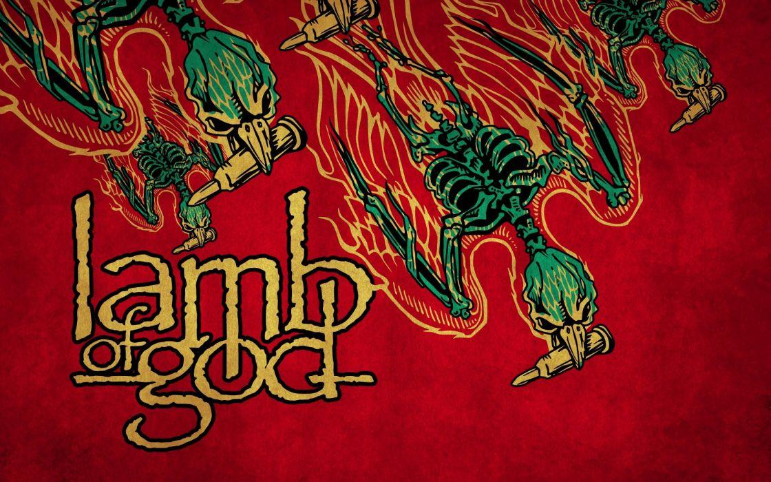 LAMB OF GOD groove metal heavy poster daek skull         g wallpaper
