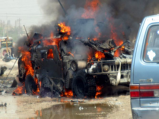 US Army Humvee attacked wallpaper