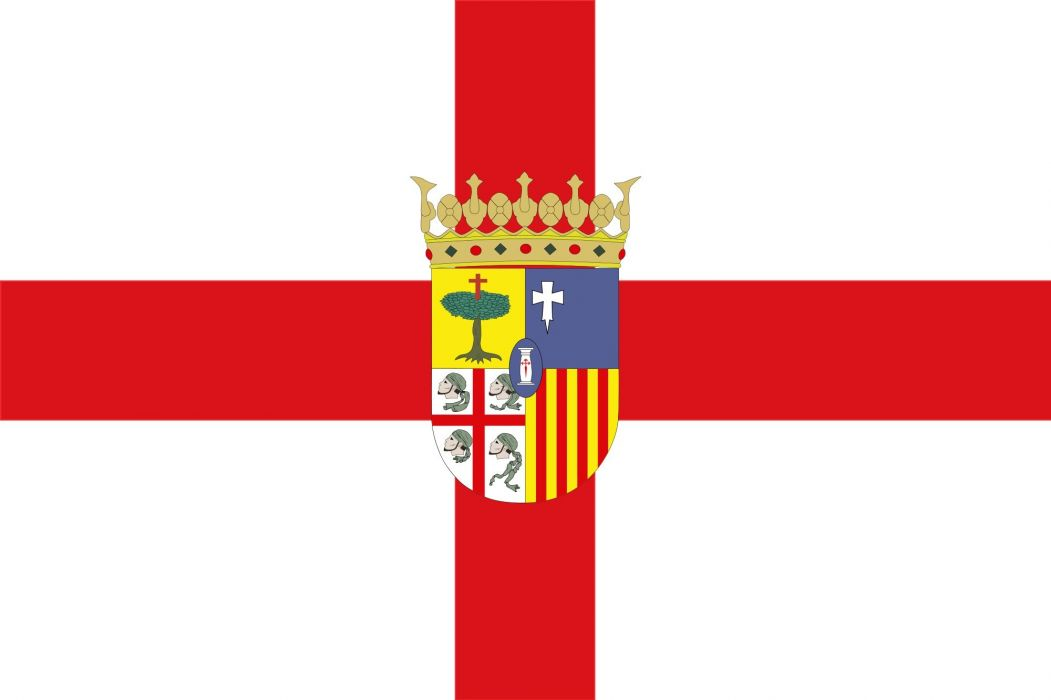 2000px-Flag of Zaragoza province (with coat of arms)_svg wallpaper