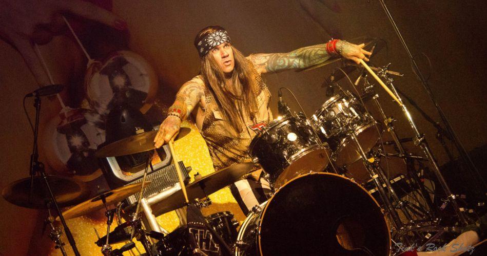 STEEL PANTHER hair metal heavy glam concert drums f wallpaper