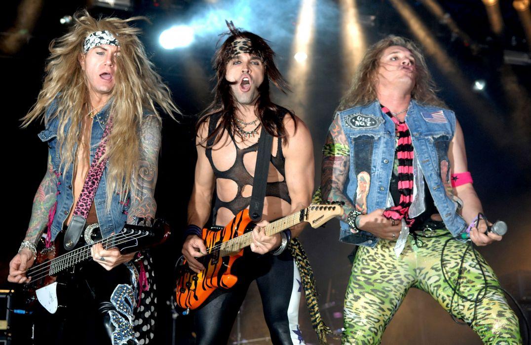 STEEL PANTHER hair metal heavy glam concert guitar     h wallpaper