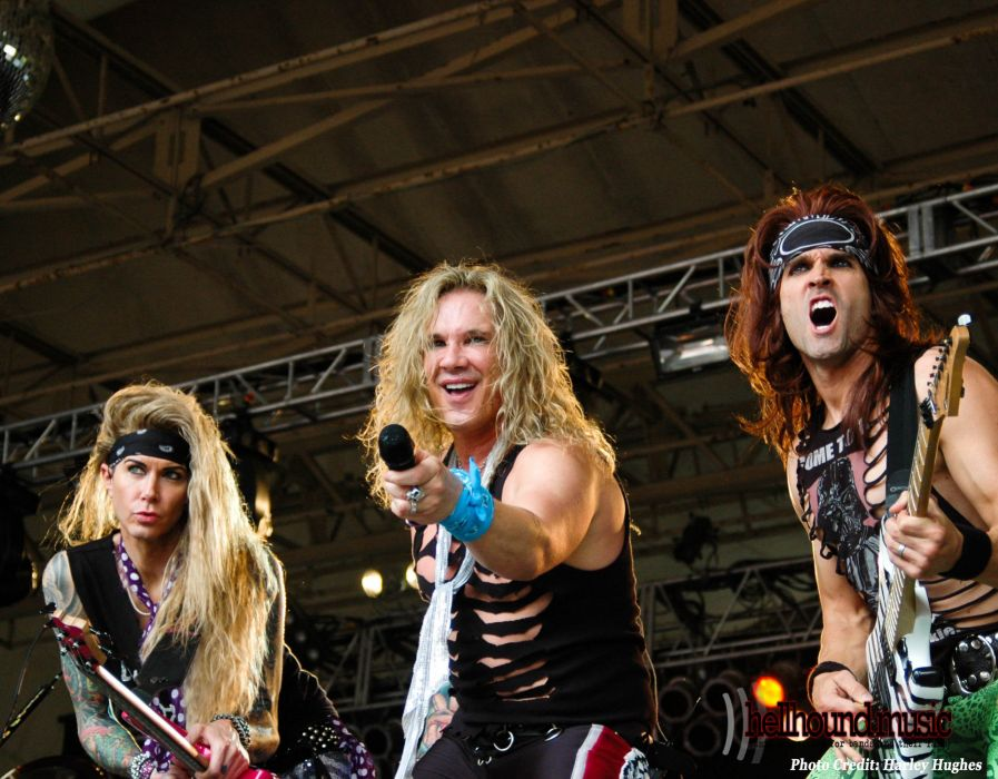 STEEL PANTHER hair metal heavy glam concert guitar singer microphone   f wallpaper