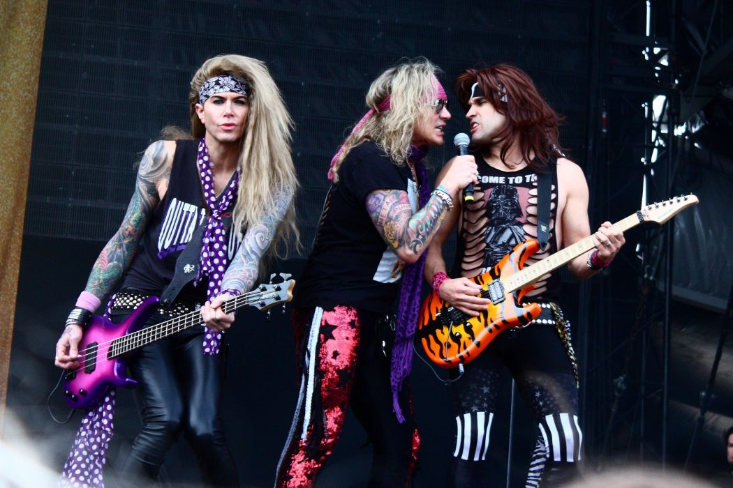 STEEL PANTHER hair metal heavy glam concert guitar singer microphone   j wallpaper