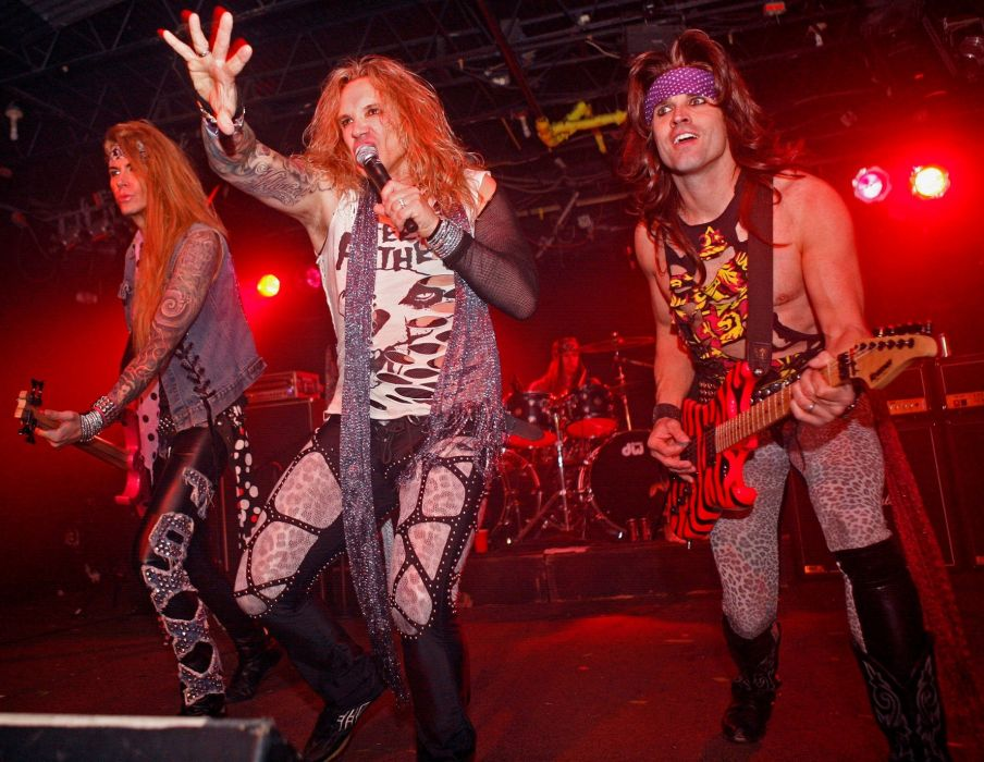 STEEL PANTHER hair metal heavy glam concert guitar singer microphone  g wallpaper
