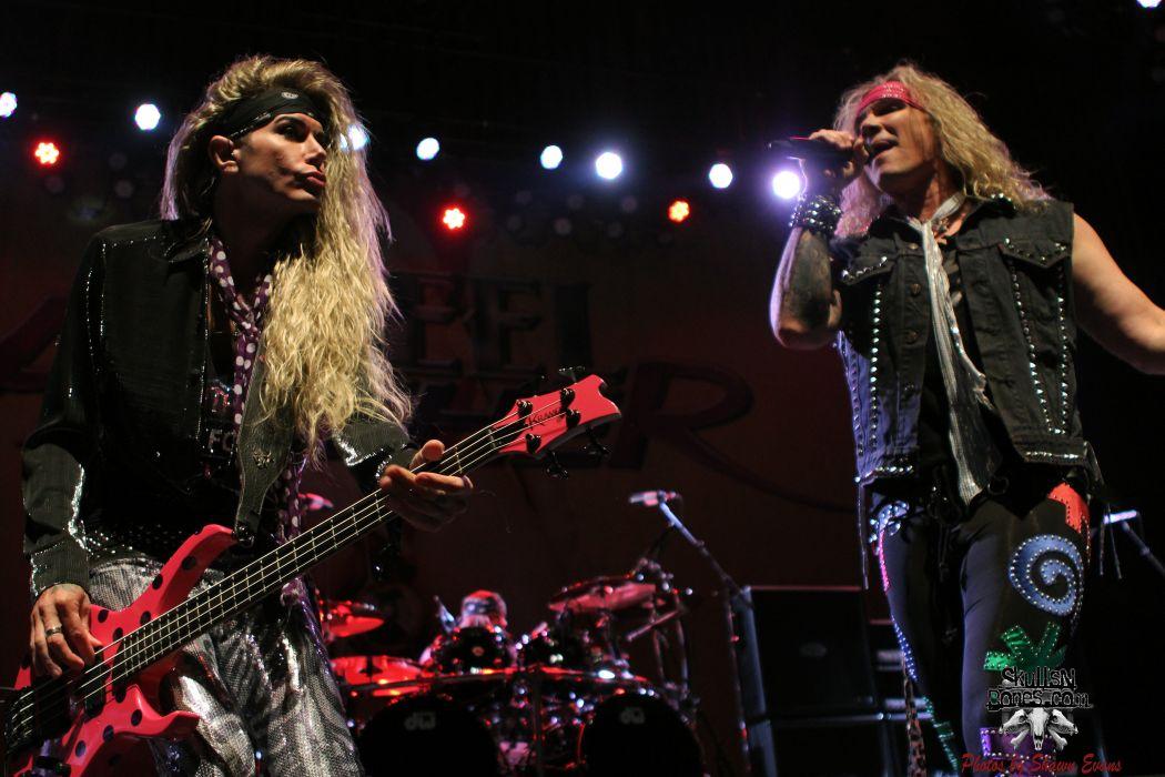 STEEL PANTHER hair metal heavy glam concert guitar singer microphone  g g wallpaper