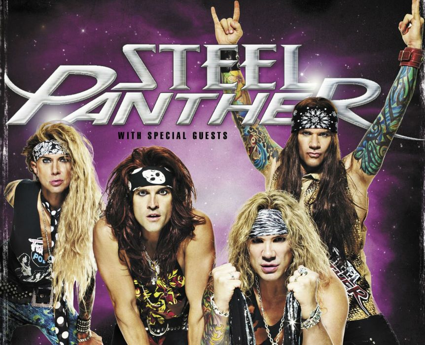 STEEL PANTHER hair metal heavy glam poster    hf wallpaper