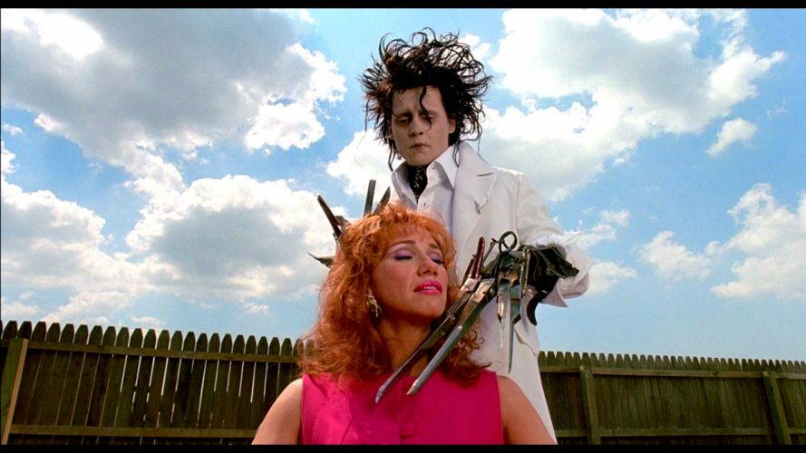 EDWARD SCISSORHANDS drama fantasy romance depp wallpaper