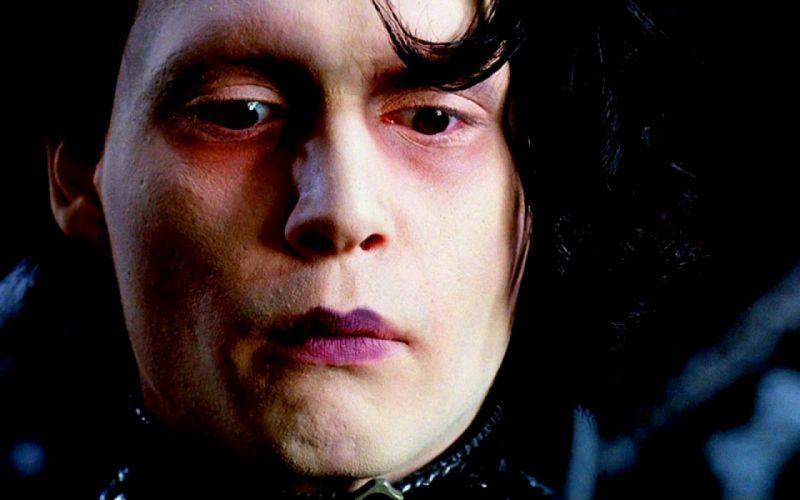 EDWARD SCISSORHANDS drama fantasy romance depp dark wallpaper