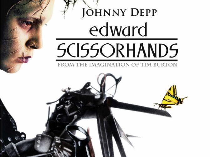 EDWARD SCISSORHANDS drama fantasy romance depp poster butterfly mood wallpaper