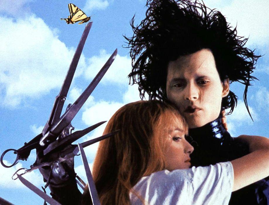 EDWARD SCISSORHANDS drama fantasy romance depp mood love butterfly wallpaper
