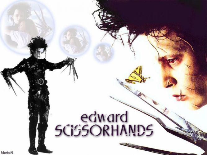 EDWARD SCISSORHANDS drama fantasy romance depp poster wallpaper
