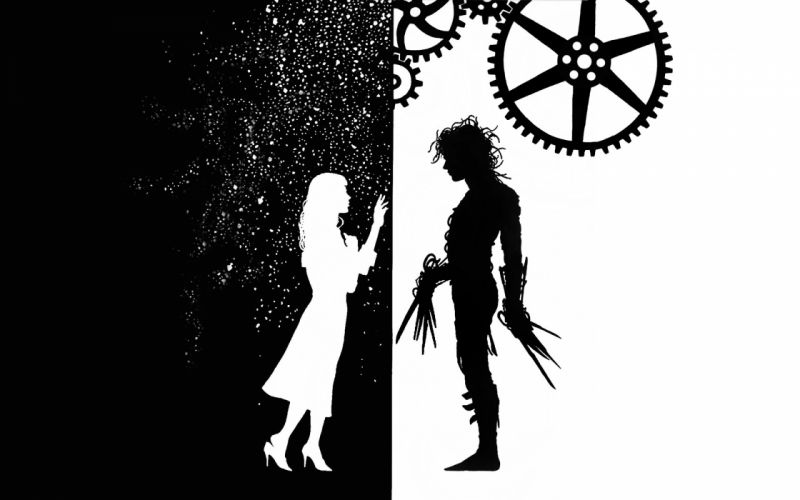 EDWARD SCISSORHANDS drama fantasy romance depp vector mood wallpaper