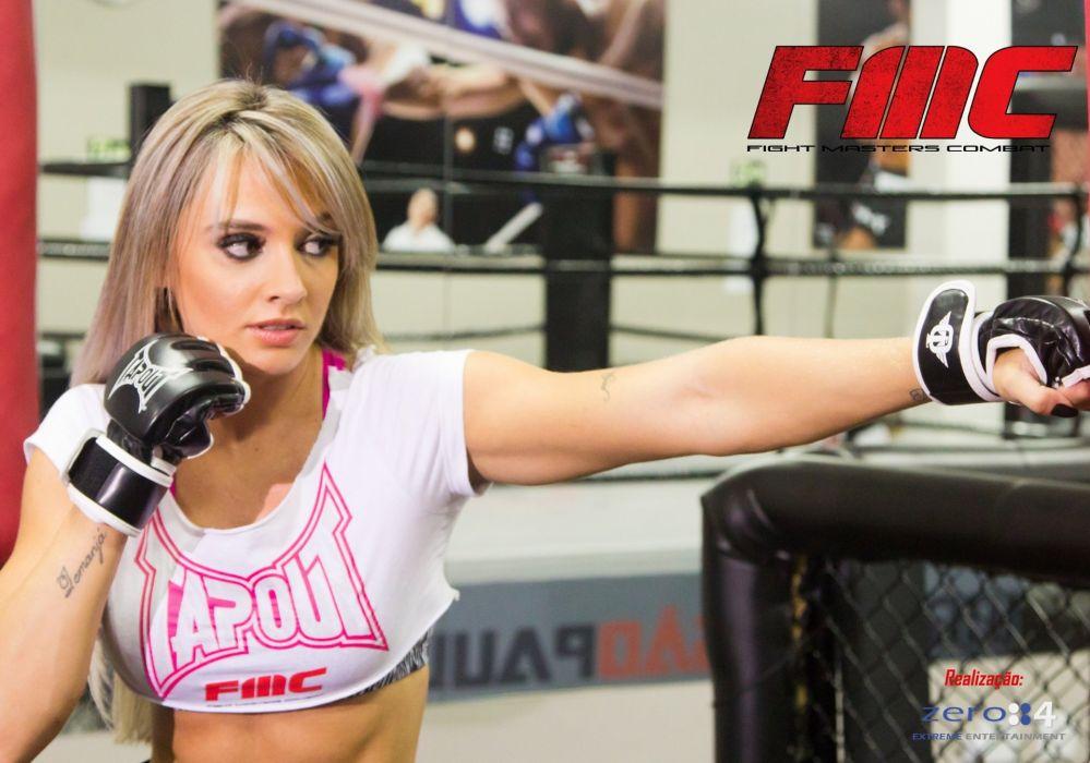 JUJU SALIMENI model brazilian sexy babe blonde mma martial mixed   f wallpaper