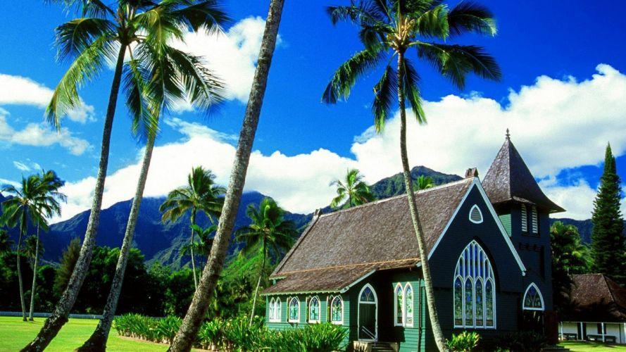Hawaii churches kauai wallpaper