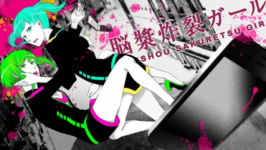 Vocaloid Hatsune Miku Megpoid Gumi anime girls wallpaper