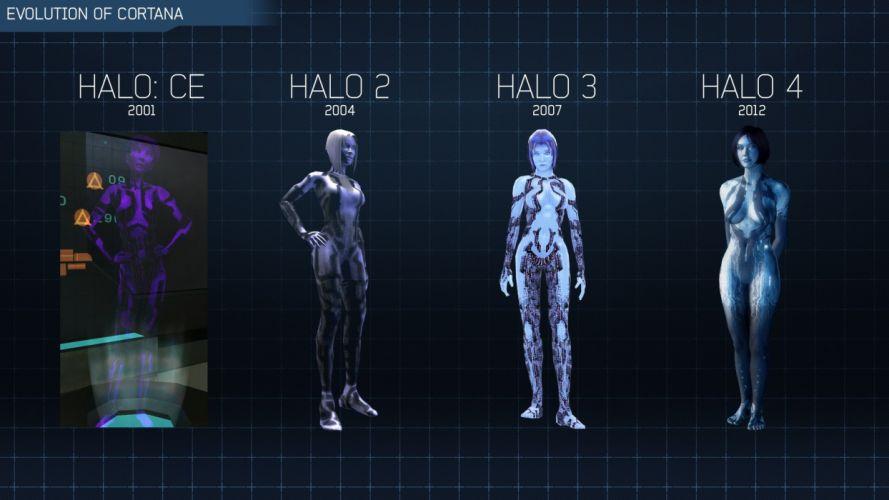 video games Cortana Halo evolution Halo 4 Halo 2 wallpaper