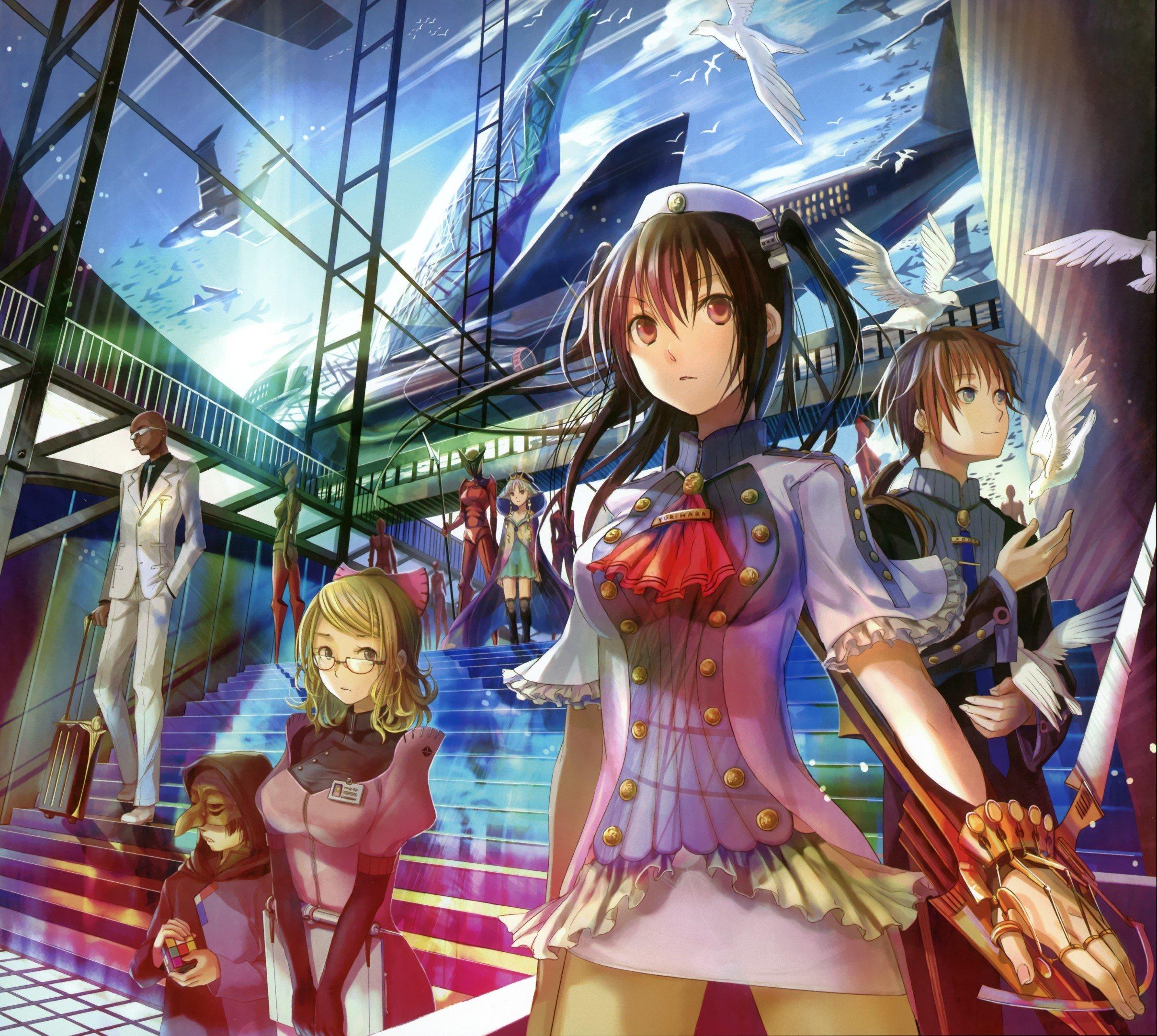 Multicolor Anime Fuji Choko Soft Shading Anime Girls